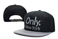 ONLY NY 2 Tone Sports Logo Snapback caps black new york