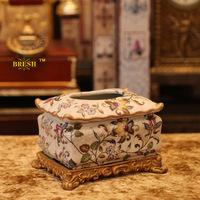 Derlook hepburn fashion vintage ceramic crack fashion tissue box decoration d105