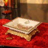 Hepburn fashion ceramic home crack resin vintage ashtray decoration d112