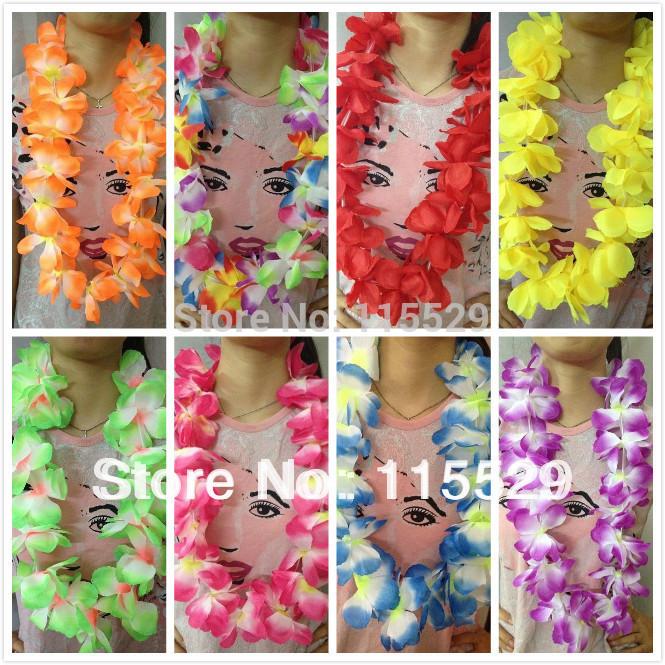 Wedding Party Bulk 100cm Hawaii Lei Necklace and hawaii Garland 800pcs/lot(China (Mainland))