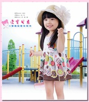 Free shipping!Wholesale Fashion Baby girls Sleeveless Dresses Kids flowers Sundress Child dresses 6 pcs