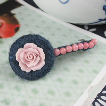 National trend handmade soft ceramic the preparation of red coral hair pin hairpin hair accessory clip