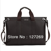 Cowhide Man Business Bags 2013 New Fashion Messenger Bag Casual Multifunction Briefcase Laptop bags WB0040 Retail Two Style