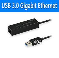 5pcs/lot USB 3.0 10/100/1000Mbps Gigabit Ethernet RJ45 External Network Card Lan Adapter ,Retail packaging +Free shipping