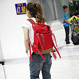 2013 women's preppystyle canvas backpack academism style school bag Free shipping