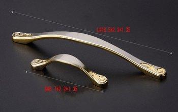 High-grade zinc profiles cupboard Furniture door drawer modern European shake hands handle doorknob