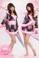 ML2103 exotie Sexy Japanese Dress Kimono Costume with waistband+g-string