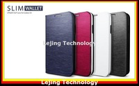 i9500 leather case Slim Wallet Flip Cover Leather Case For Samsung Galaxy S4 i9500 SIV With Retail Package