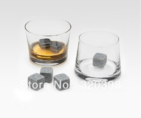 Whisky Stones Whisky Rocks Stone Wine Cooler Set/Pack of 9pcs, Wine Beer Cola Beverage Cooler