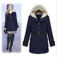 Fashion Lady's Winter and Autumn Long Slim Style Wool Blends Coat Women's Fit Wool Coat Jacket Warm Outerwear High Quality