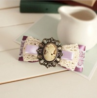 Free shipping~New arrival korean fashion lace bowknot hairpin
