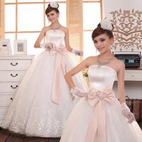 Sweet clothing cute exquisite bridal wedding dress formal dress long design white winter wedding dress 2013