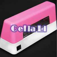 Pro 9W Pink UV NAIL Art CURING LAMP GEL DRYER BULB LIGHT ACRYLIC Tips Kit 510