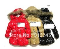 free shipping 2013 fashion Winter coat Bright surface of cultivate one's morality more warm down jacket kids girl's down jacket.