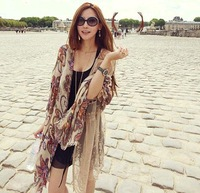 Fluid female national trend vintage scarf cape dual-use ultra long (MIni order is$10)