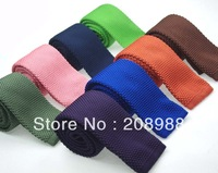 19 Colors Available! Fashion Solid color knitted tie mens tie business tie casual tie free shipping 10pcs/lot #1602
