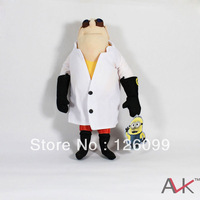 "Free shipping The newest hot selling  best  birthday Gift  Despicable ME Movie13 inch "" doctor Plush Toy with tags 5pcs/lot"
