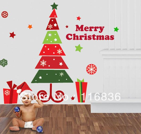 무료-배송-새로운-2013-제품을-장식-메리-크리스마스-트리-벽 ...