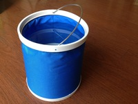 free shipping (4pcs/lot)Camping Folding bucket 11L