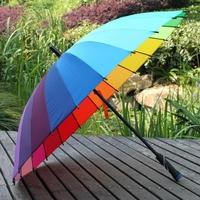 Citymoon umbrella 24k rainbow wind resistant straight sun umbrella