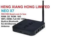 Mini PC XBMC HDMI WIFI RJ45 Ethernet Built-in Bluetooth 1.6GHz 2G RAM 16G ROM MINIX NEO X7 Android 4.2 RK3188 Quad Core TV Box