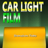 Sanding Yellow Car Light Wrapping Film 10m*30cm/roll