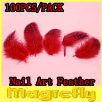 [YML-003]100pcs/Bag Nail Art Feather Decoration Acrylic UV Gel Hair Design Jewelry Manicure Tips Salon + Free Shipping