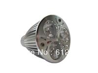 Wholesale 50pcs Free Shipping 6w LED Spot Light GU10 Lamp led Spotlight 3x2w AC85-265v high power downlight warm white/white