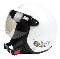 2014 new EVO all white retro motorcycle helmet / half helmet electric car in winter free shipping