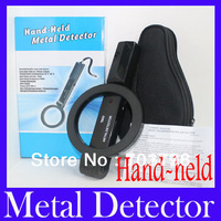 EMS Free shipping Hand Held Portable Security Metal Detector Scanner High Sensitivity + retail packing,5pcs/lot