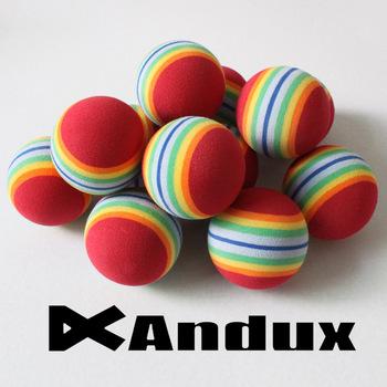 12pcs golf practice ball rainbow sponge foam ball training indoor red