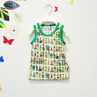 2013 children's clothing male female child pattern 100% cotton close-fitting vest
