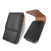 Phone Belt Clip Case PU Phone Holster Black Color Portrait for i Phone 4/5