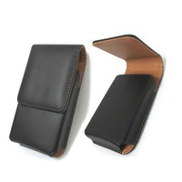 Phone Belt Clip Case PU Phone Holster Black Color Portrait for i Phone 4/5