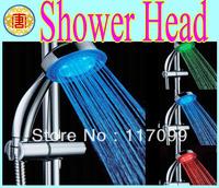 Temperature Sensor Shower Head ,LED Shower Color Temp Automatic Control LED Shower Spray No Power Bathroom typeA14