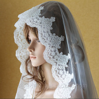 160cm bridal veils Elegant lace luxury vintage beautiful Long design wedding veils/Bridal veils Free shipping W232