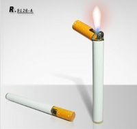 New arriver free shipping 50pcs/lot novelty smoke style cigarette lighter with fashionable design wholesale and retail