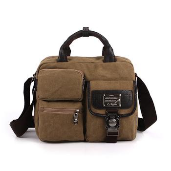 2014 Men  Canvas Bag  Handbag Casual Bag Messenger Bag With Multi-pocket Free Shipping  BTF006
