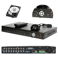 CCTV SURVEILLANCE 8 CHANNEL VIDEO AUDIO STAND ALONE 1TB HDD H.264 DVR