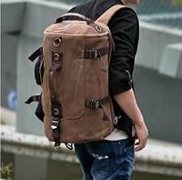 Free shipping,Men's male Vintage cotton canvas Travel backpack,Sport Outdoor Rucksack school bag Satchel Hiking bag B1022