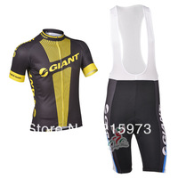 Any Way To Match! 2013 New GIANT Team  Black&Yellow pro Cycling Jersey / (Bib) Shorts / Set-B151 Free Shipping!