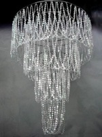 Large 4 Tiered Chandelier Diamond Cut Crystal HLL902S