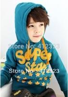 2013 new children boys autumn spring star hoody coat jacket baby cotton fashion hoodies outwear hoody