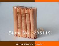 A010-6 Professional plastic light orange cold wave salon standard hair roller with 10 different sizes (10pcs/bag)