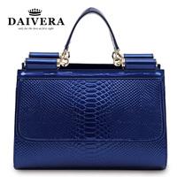 Women Excellent Quality Real Genuine Leather Shoulder Bags Croc Handbag Dress Party Bags Messegner Purse  L126