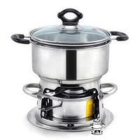 Stainless steel alcohol podjarka furnace thickening pot mini pot one piece shabu pot