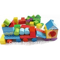 free shipping Colored the tread DIY building blocks / children educational kid toys- Random Color