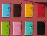 1 pcs free shipping new MOZ flip cover for shell iphone 4s case for iphone 4 case luxury wallet holster tide