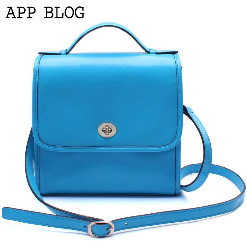 App blog female bags 2013 women's messenger bag shoulder bag cowhide women's handbag vintage bag(China (Mainland))