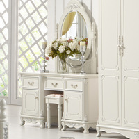 American style vanity dressing tables silver hand carved depiction Vanities package logistics port to port by sea